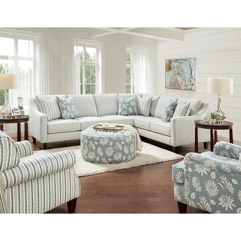 59-00 Living Room Group by Fusion Furniture at Miller Waldrop Furniture and Decor