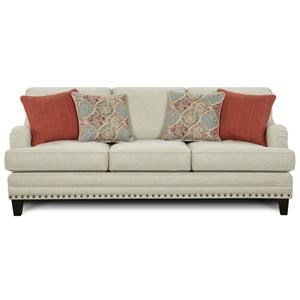 Transitional Sofa with English Rolled Arms