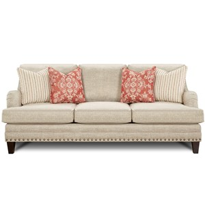 Transitional Sofa with Nail Head Trim