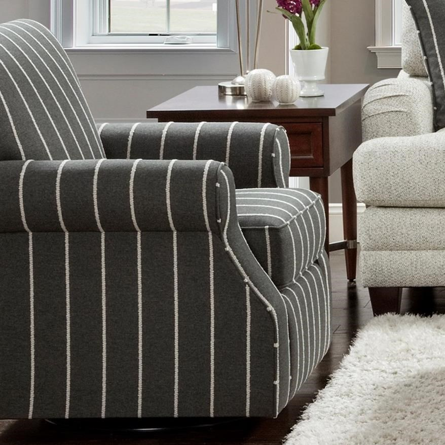 602 Swivel Accent Chair by Fusion Furniture at Furniture Superstore - Rochester, MN