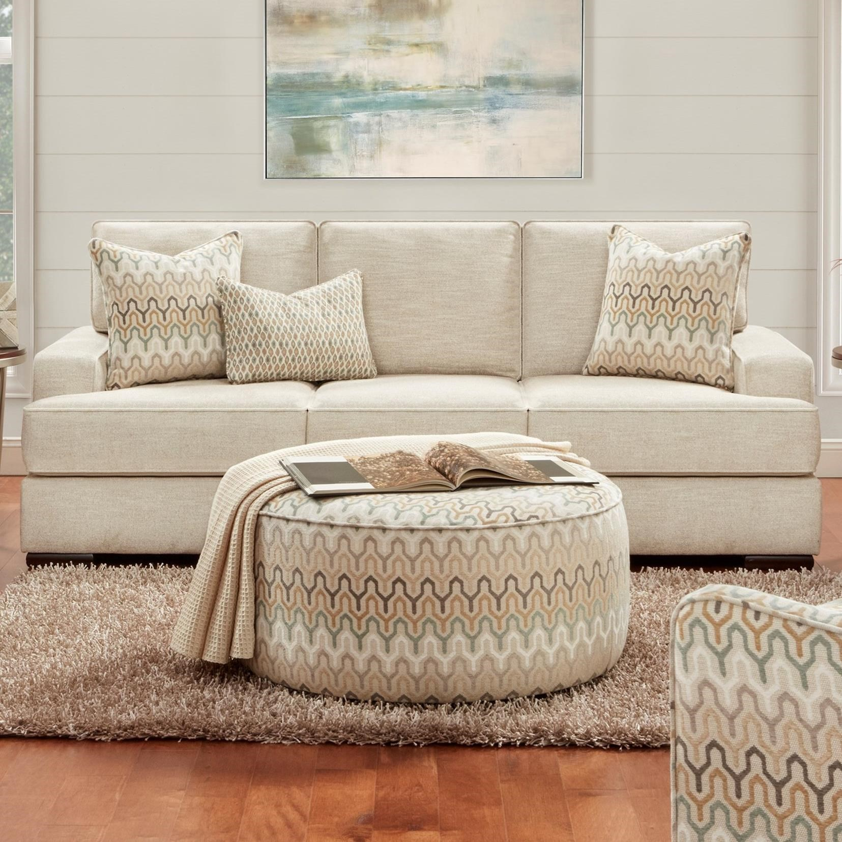 8560 Transitional Sofa by Fusion Furniture at Prime Brothers Furniture