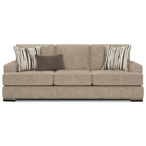 Transitional Sofa with T-Style Seat Cusions
