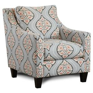 Contemporary Accent Chair with Sloped Track Arms