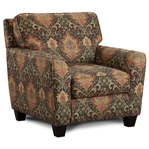 Upholstered Arm Chair with Flared Arms