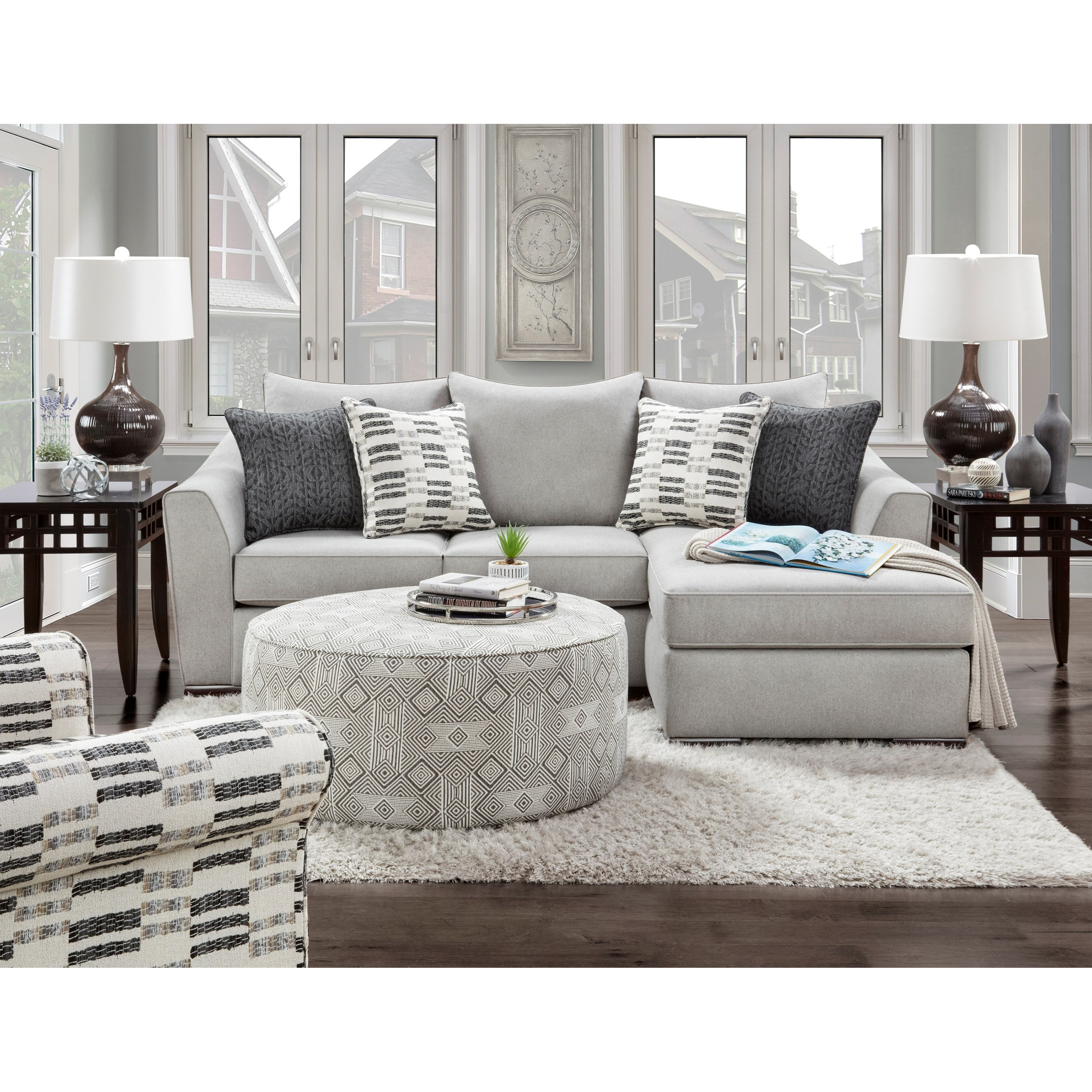 Popstitch Living Room Group by Fusion Furniture at Standard Furniture