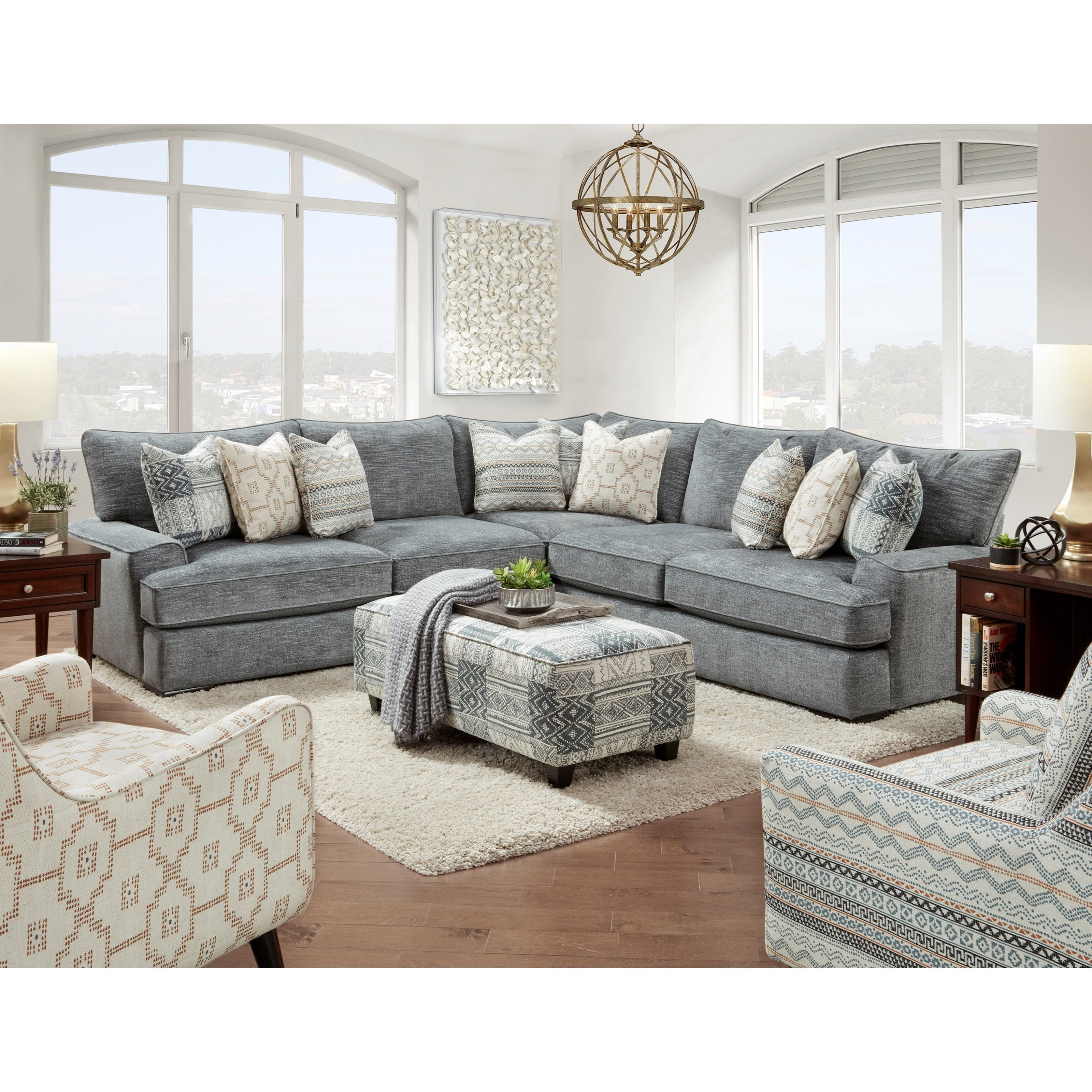 2000 Living Room Group by Fusion Furniture at Miller Waldrop Furniture and Decor