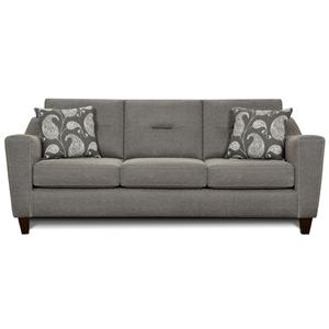 Contemporary 3 Cushion Sofa