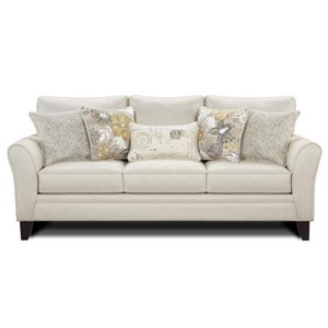 Sofa with Flared Arms and Loose Back Cushions