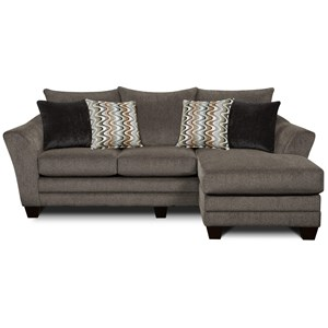 Contemporary Stationary Sofa with Chaise
