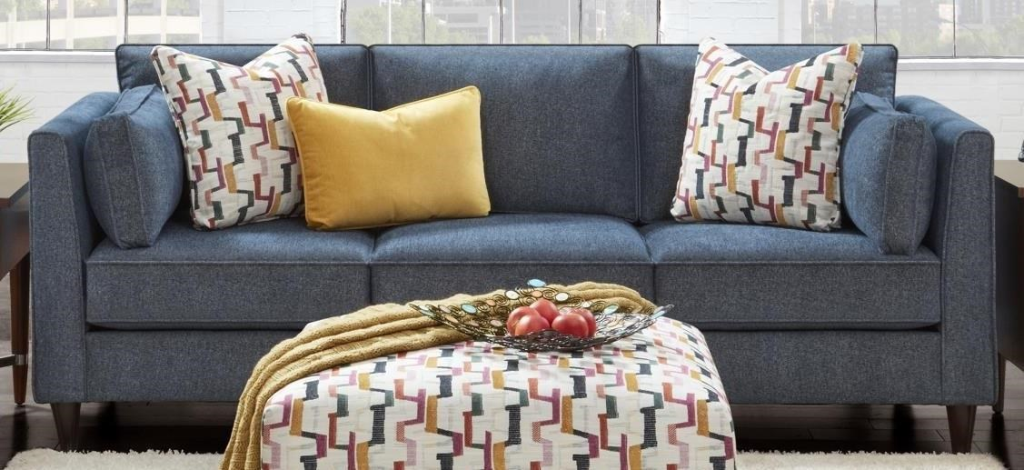 Fortana Fortana Sofa with Accent Pillows by Fusion Furniture at Morris Home