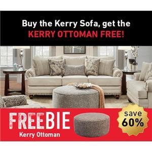 Kerry Sofa and Freebie Ottoman
