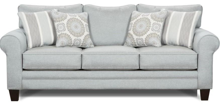 Mysteria  Mysteria Sofa with Accent Pillows by Fusion Furniture at Morris Home