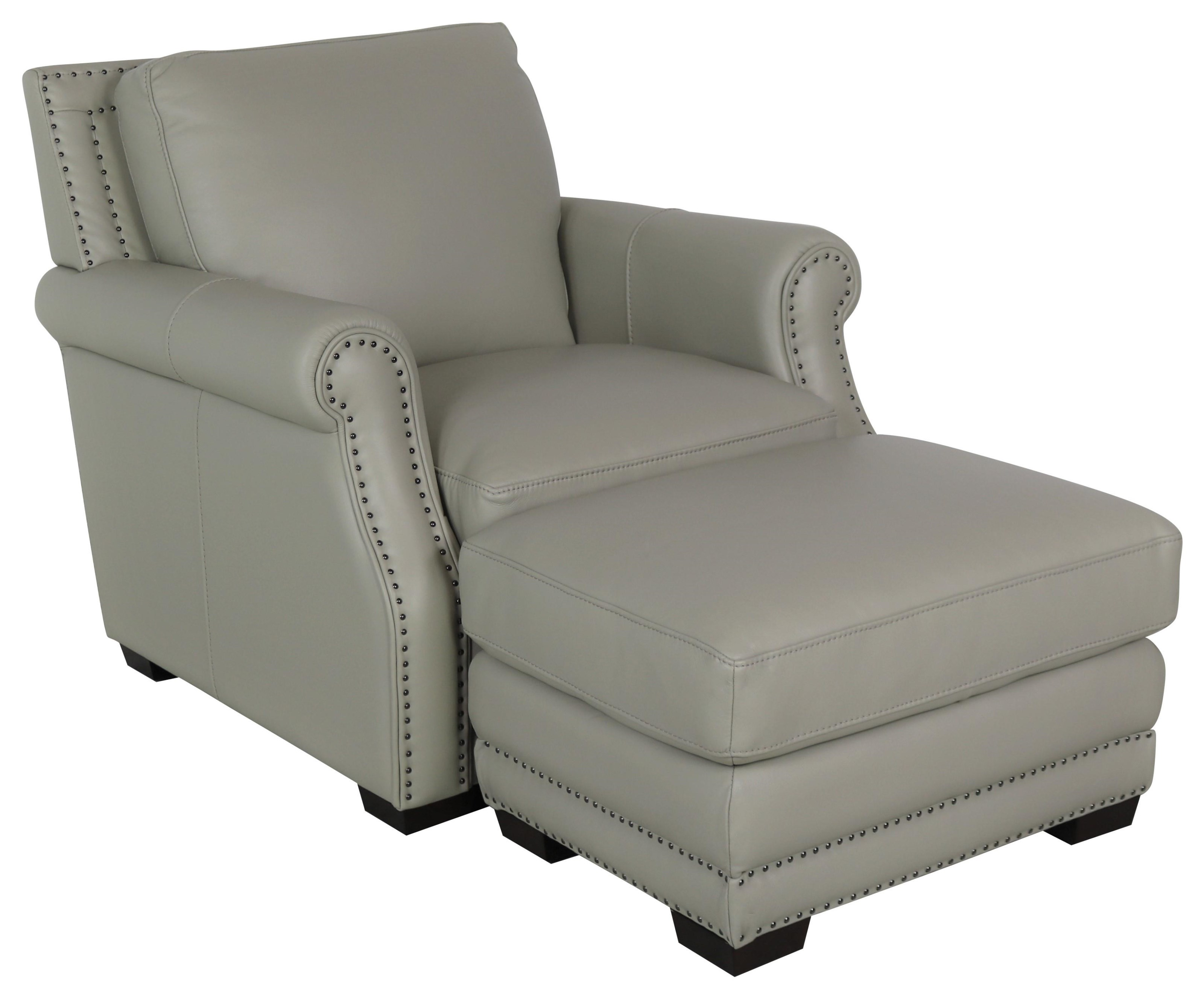 10030 Chair and Ottoman by Dante Leather at Sprintz Furniture