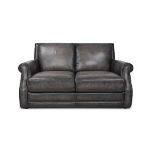 Fusion Charcoal Leather Loveseat