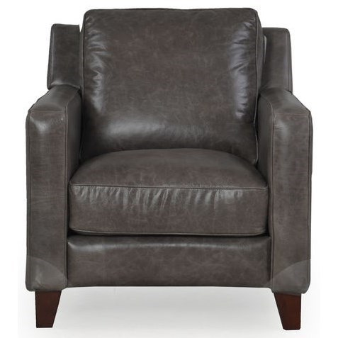 10052 Contemporary Leather Chair by Dante Leather at Sprintz Furniture