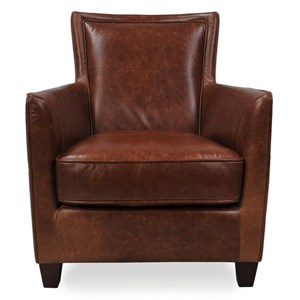 Casual Chair with Flare Tapered Arms