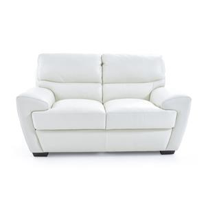 Contemporary Loveseat with Angled Arms