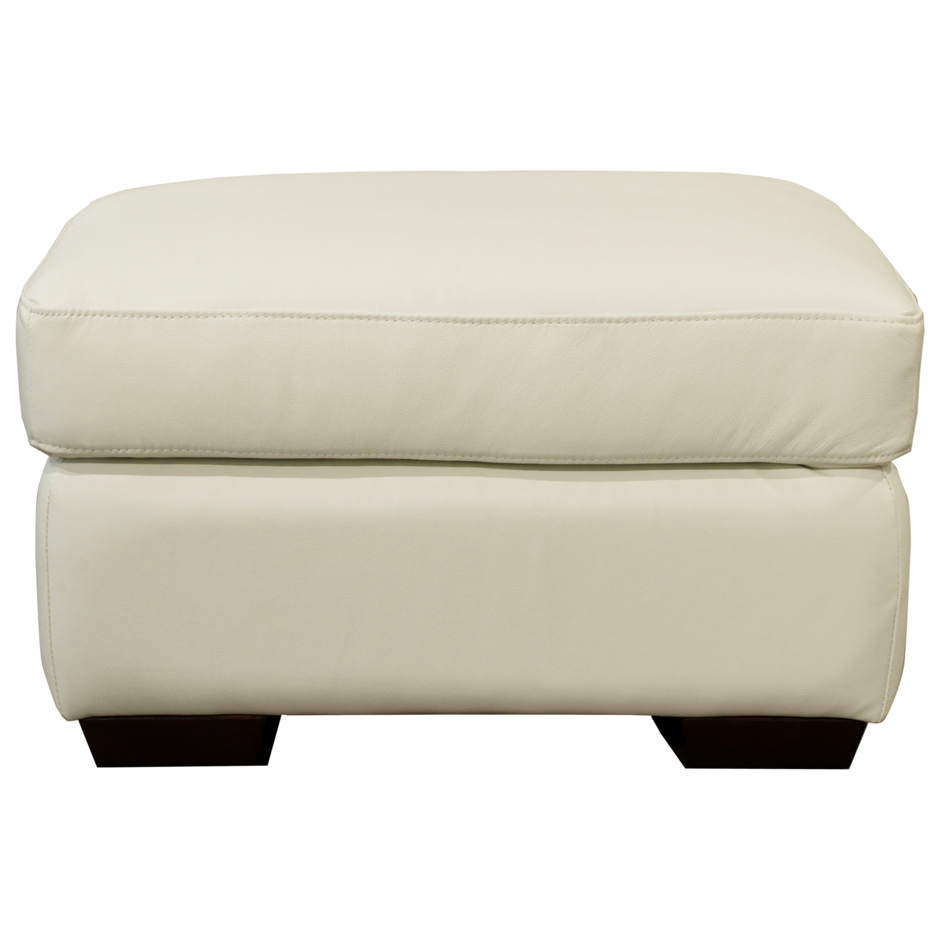 10131 Ottoman by Futura Leather at Baer's Furniture
