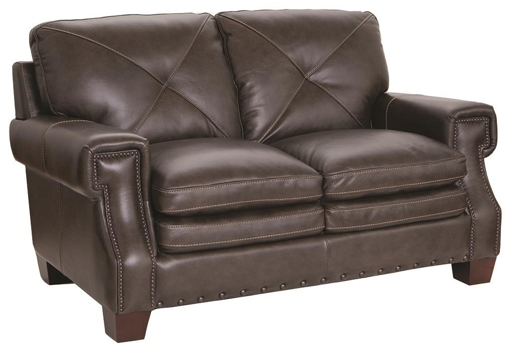 1029 100% Leather Loveseat by Futura Leather at Darvin Furniture