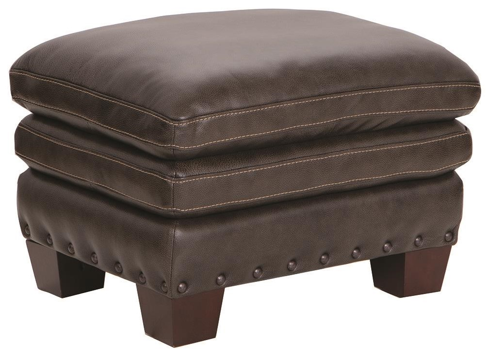 1029 100% Leather Ottoman by Futura Leather at Darvin Furniture