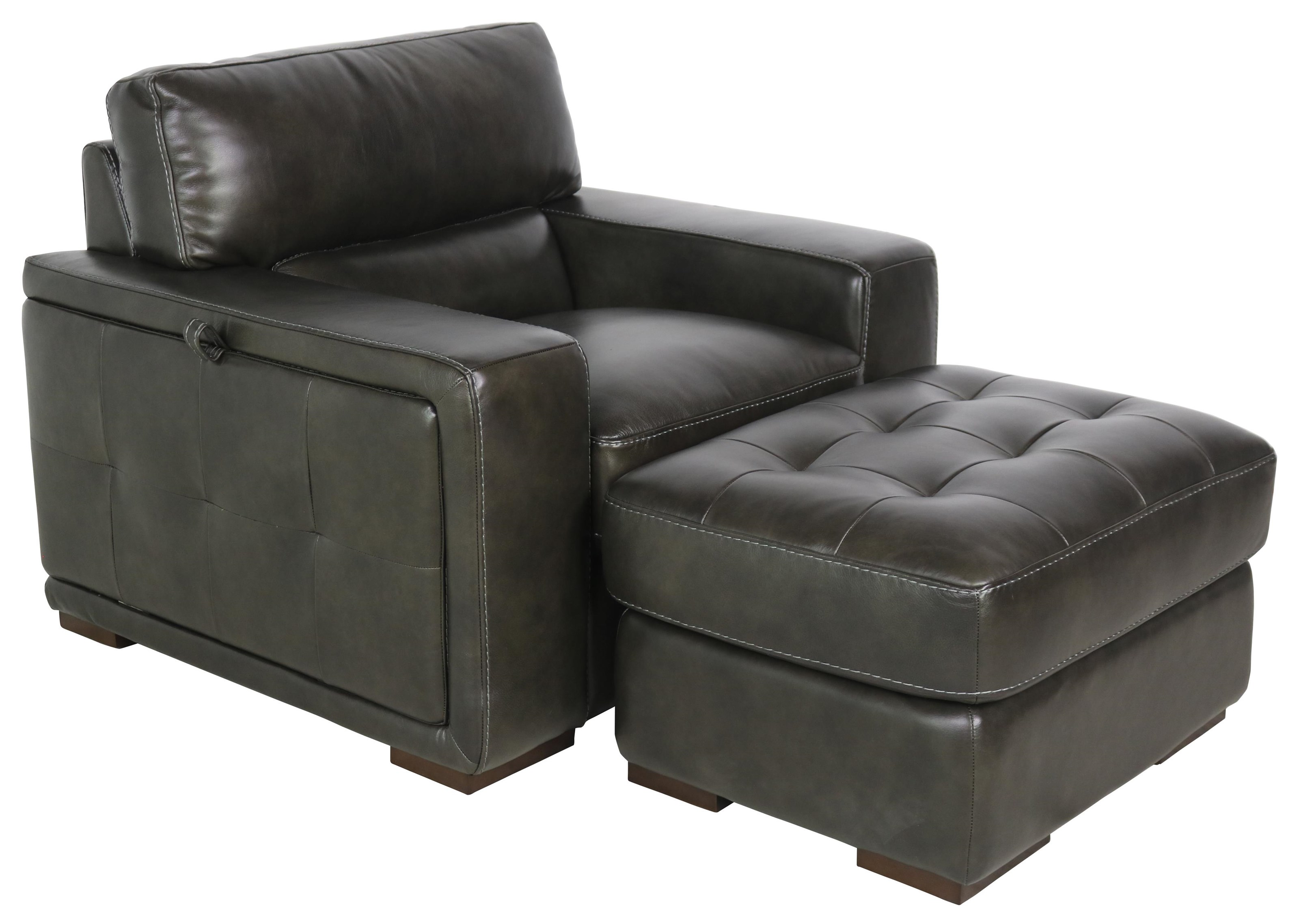 10450 Chair and Ottoman by Dante Leather at Sprintz Furniture