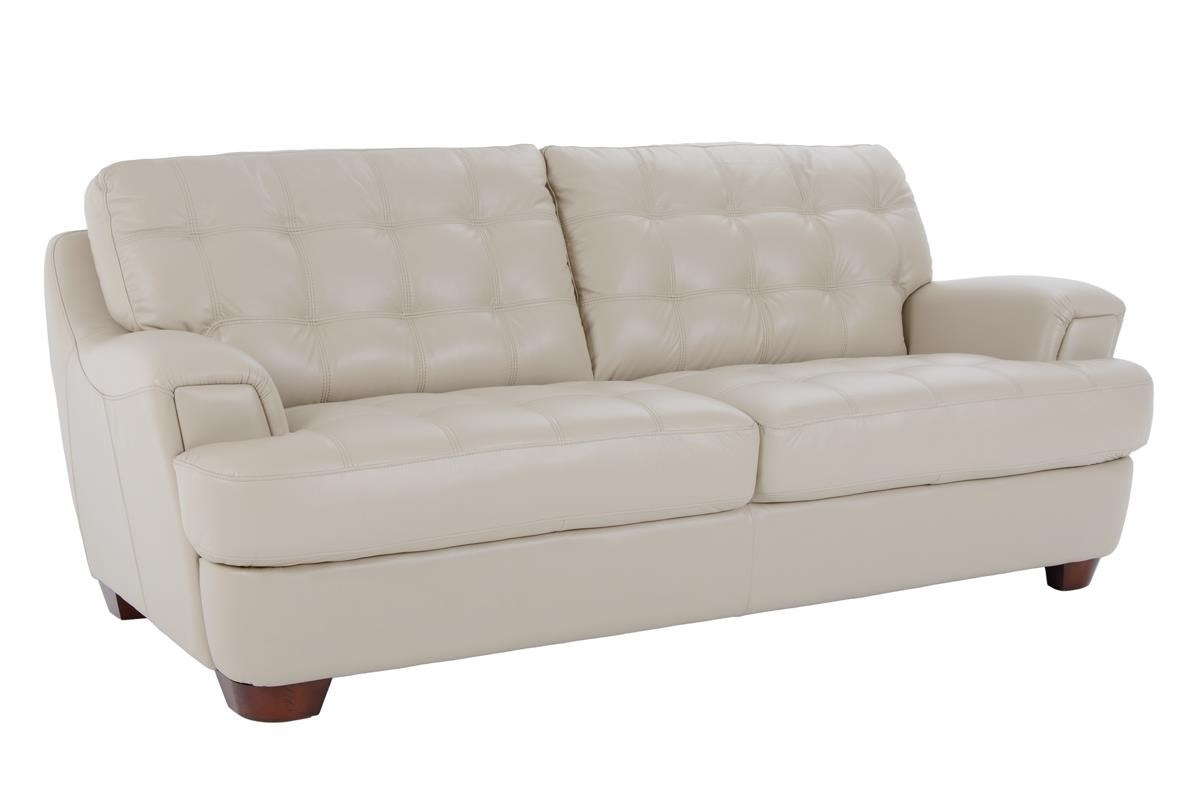 Stationary Sofa with Tufted Seats and Seat Back