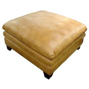 Futura Leather 7203 Leather Ottoman