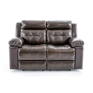 Casual Electric Motion Loveseat with Tufted Seat Back