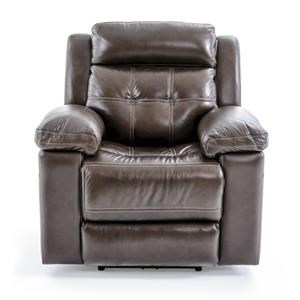 Casual Electric Recliner with Pillow Arms