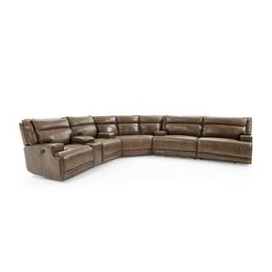 Three Piece Power Reclining Sectional Sofa with Cupholders and USB Ports