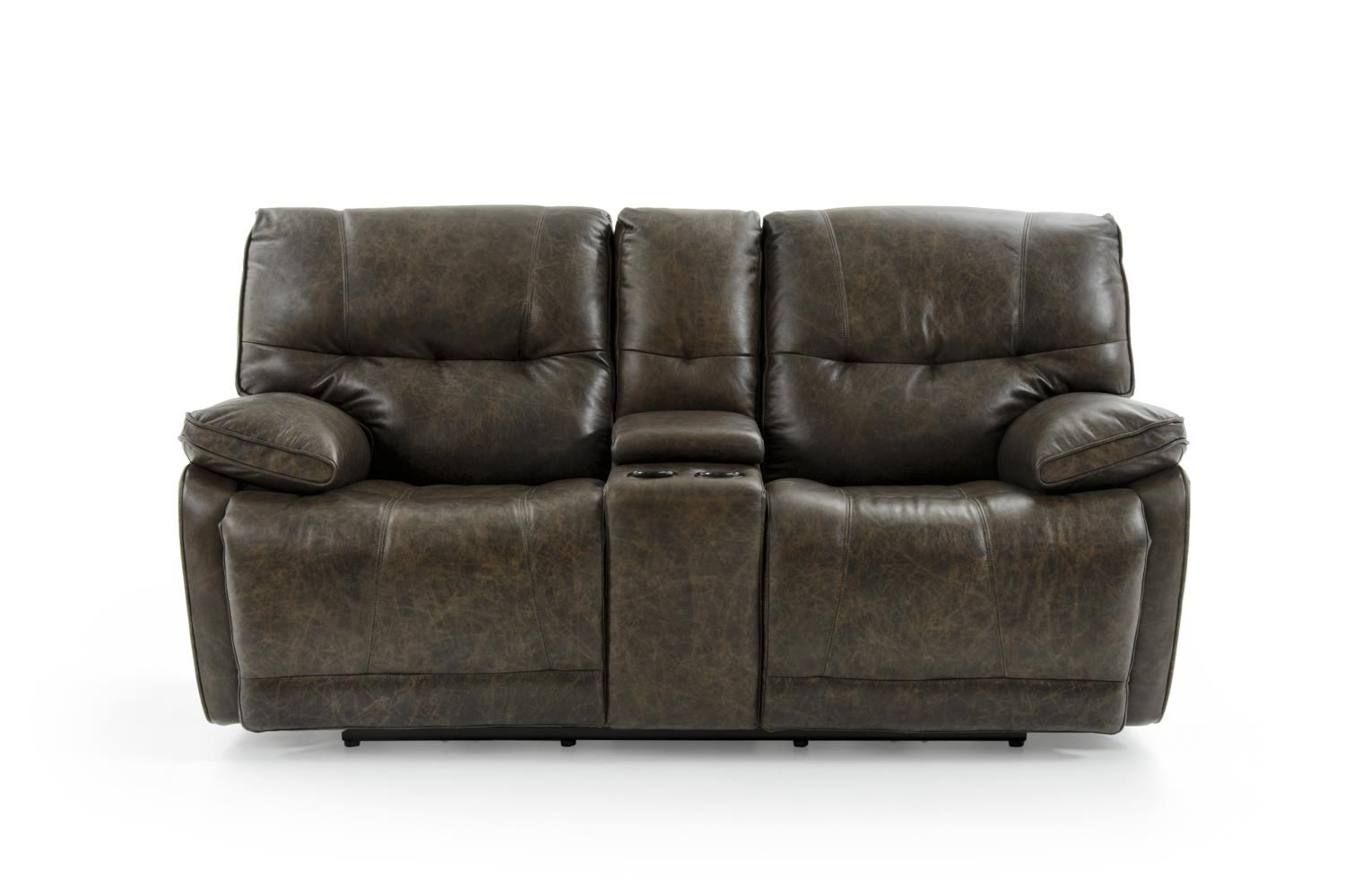 Casual Electric Motion Console Loveseat with Pillow Arms