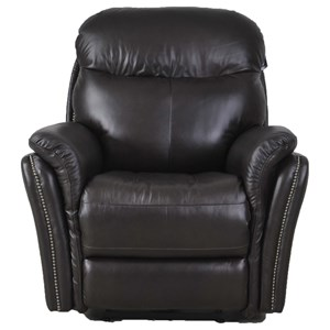 Transitional Electric Recliner with Pillow Arms