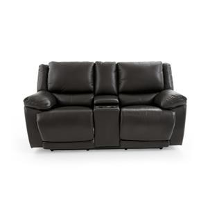 Casual Electric Motion Loveseat with Power Headrests