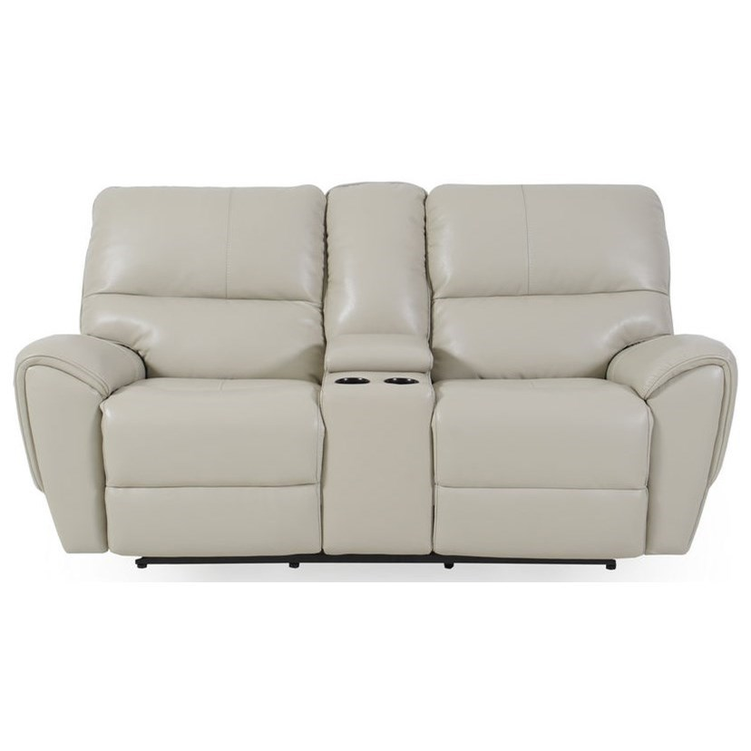 E1524 Power Reclining Console Loveseat by Futura Leather at Baer's Furniture