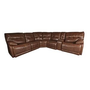 100% Leather Power Sectional Sofa with Power Headrest