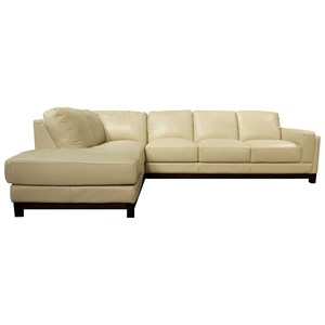 Leather Sectional with LAF Chaise