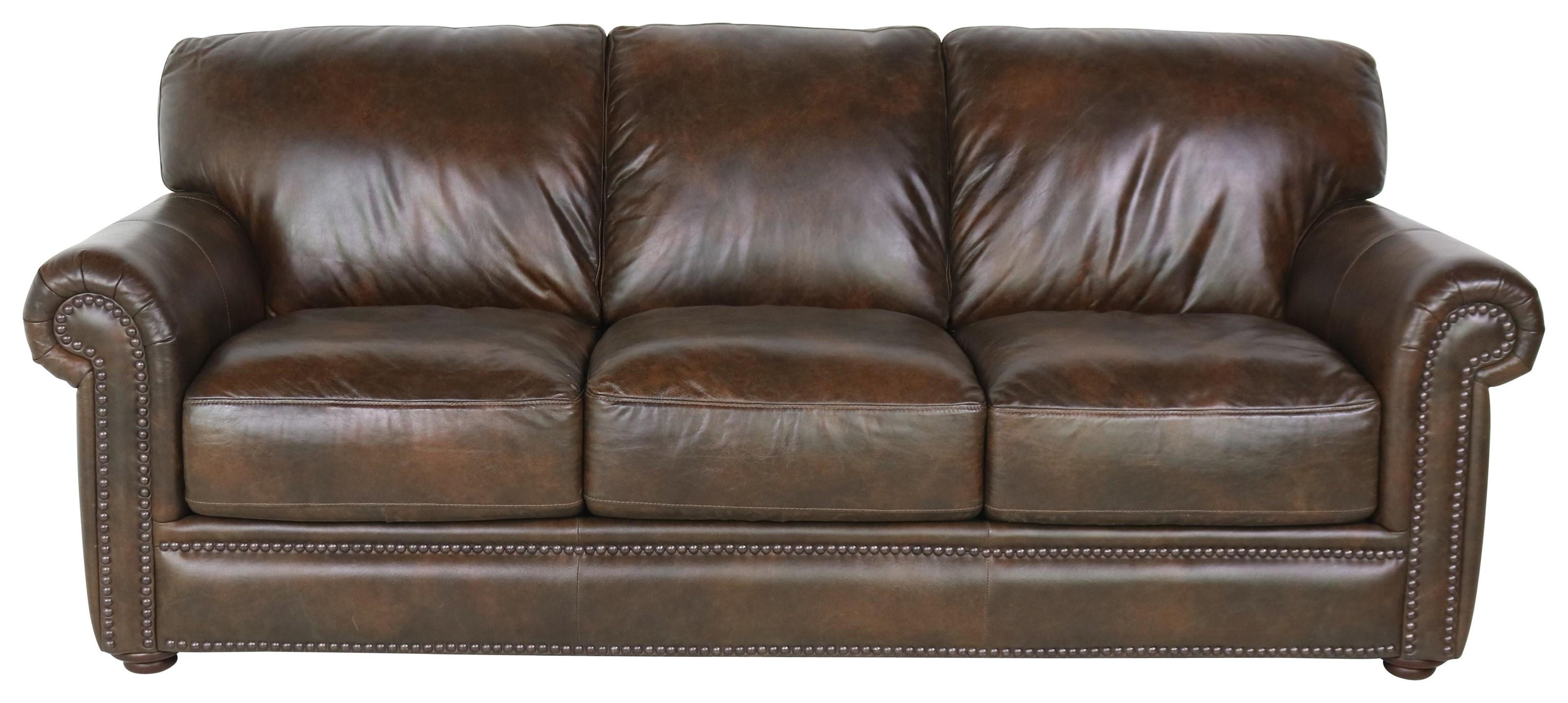 Sprintz Dante Leather Sofa by Dante Leather at Sprintz Furniture