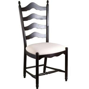 Gat Creek Dining Ladderback Side Chair with Upholstered Seat