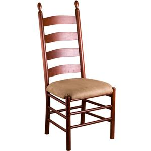 Gat Creek Dining Slat Back Side Chair with Upholstered Seat