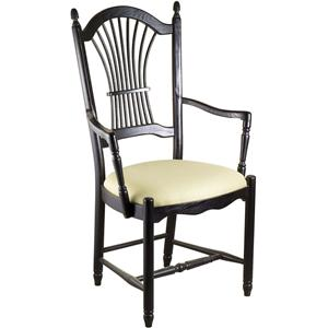 Gat Creek Dining Sheaf Arm Chair with Upholstered Seat