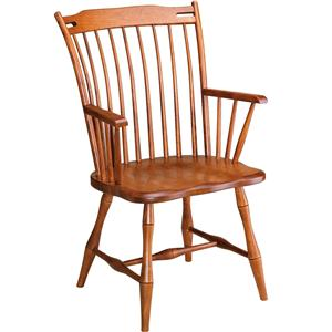 Gat Creek Dining Rod Back Arm Chair