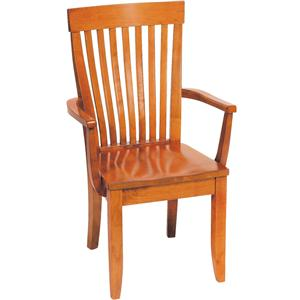 Gat Creek Dining Monterey Arm Chair with Wooden Seat
