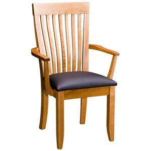 Gat Creek Dining Monterey Arm Chair with Leather Seat