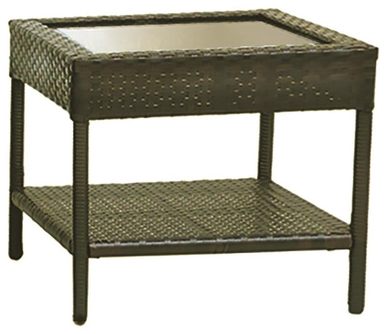 Bray Outdoor End Table by GatherCraft at Darvin Furniture