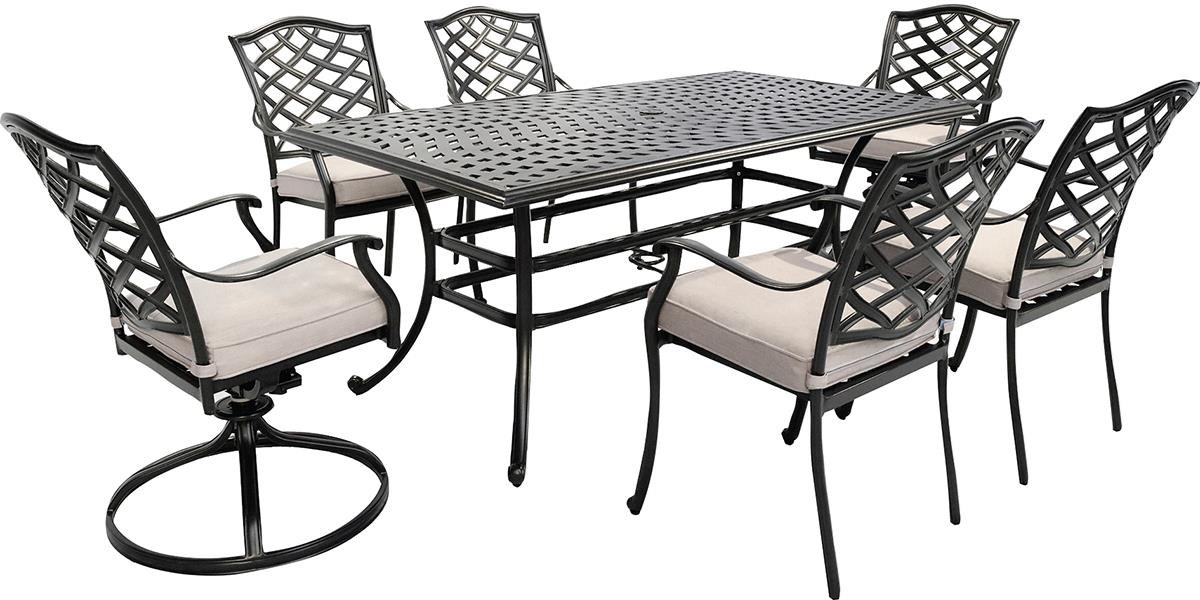 Halston 7 Piece Outdoor Dining Set by GatherCraft at Darvin Furniture