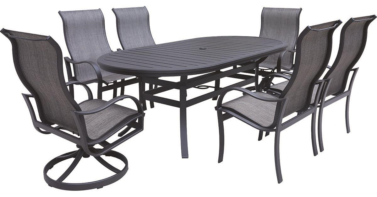 Sorrento 7 Piece Outdoor Dining Set by GatherCraft at Darvin Furniture
