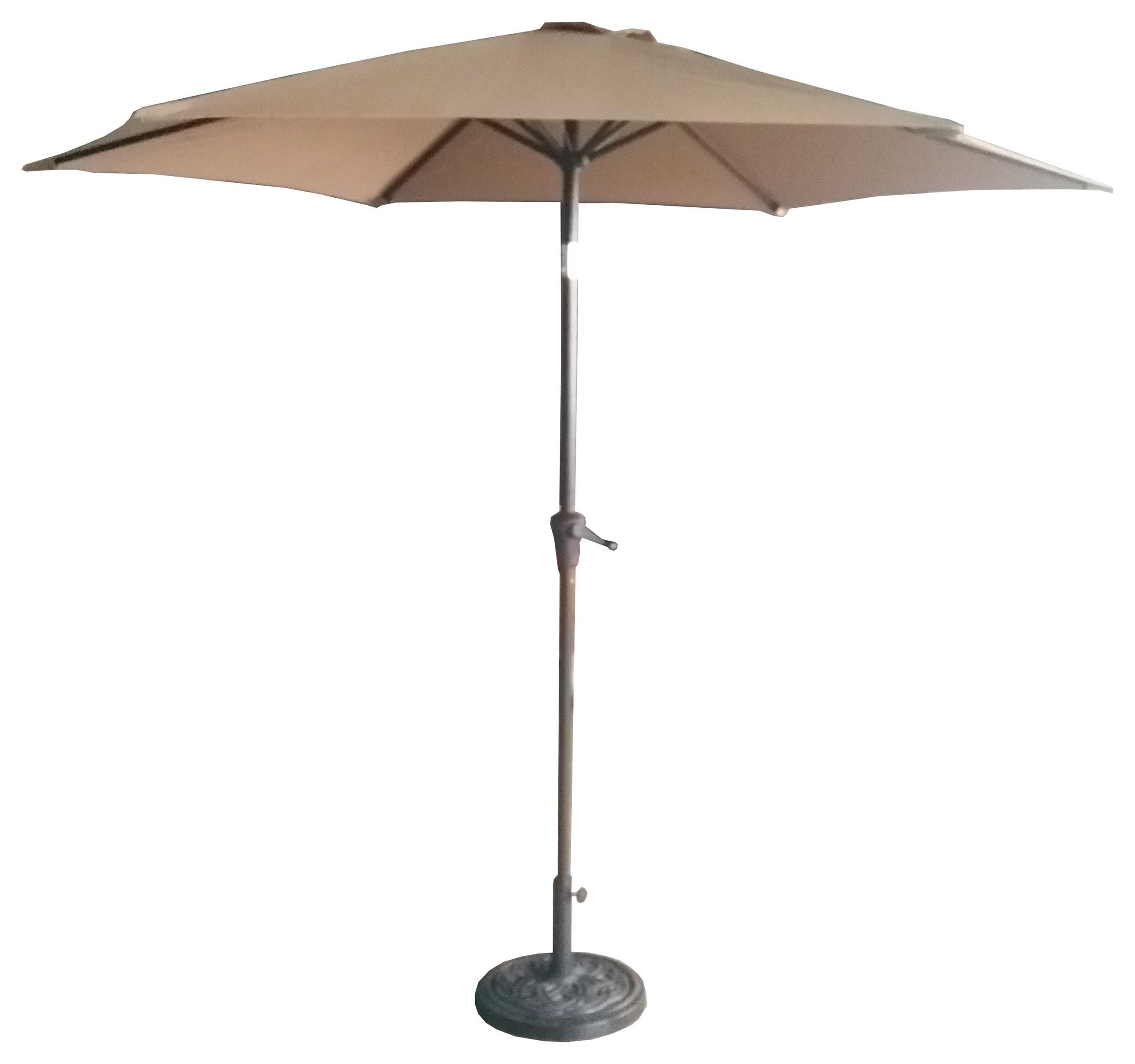 UMBRELLA 9' Tan Umbrella by GatherCraft at Darvin Furniture
