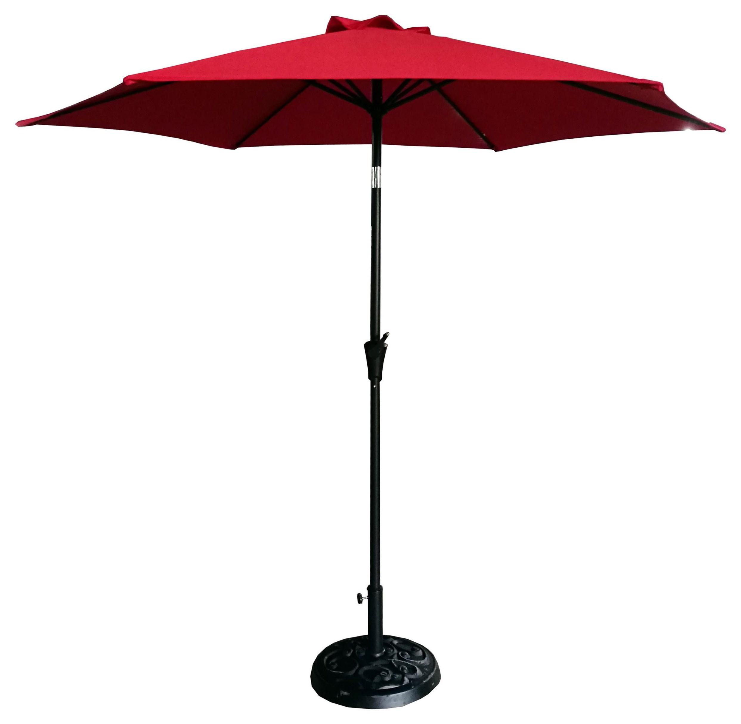 UMBRELLA 9' Red Umbrella by GatherCraft at Darvin Furniture