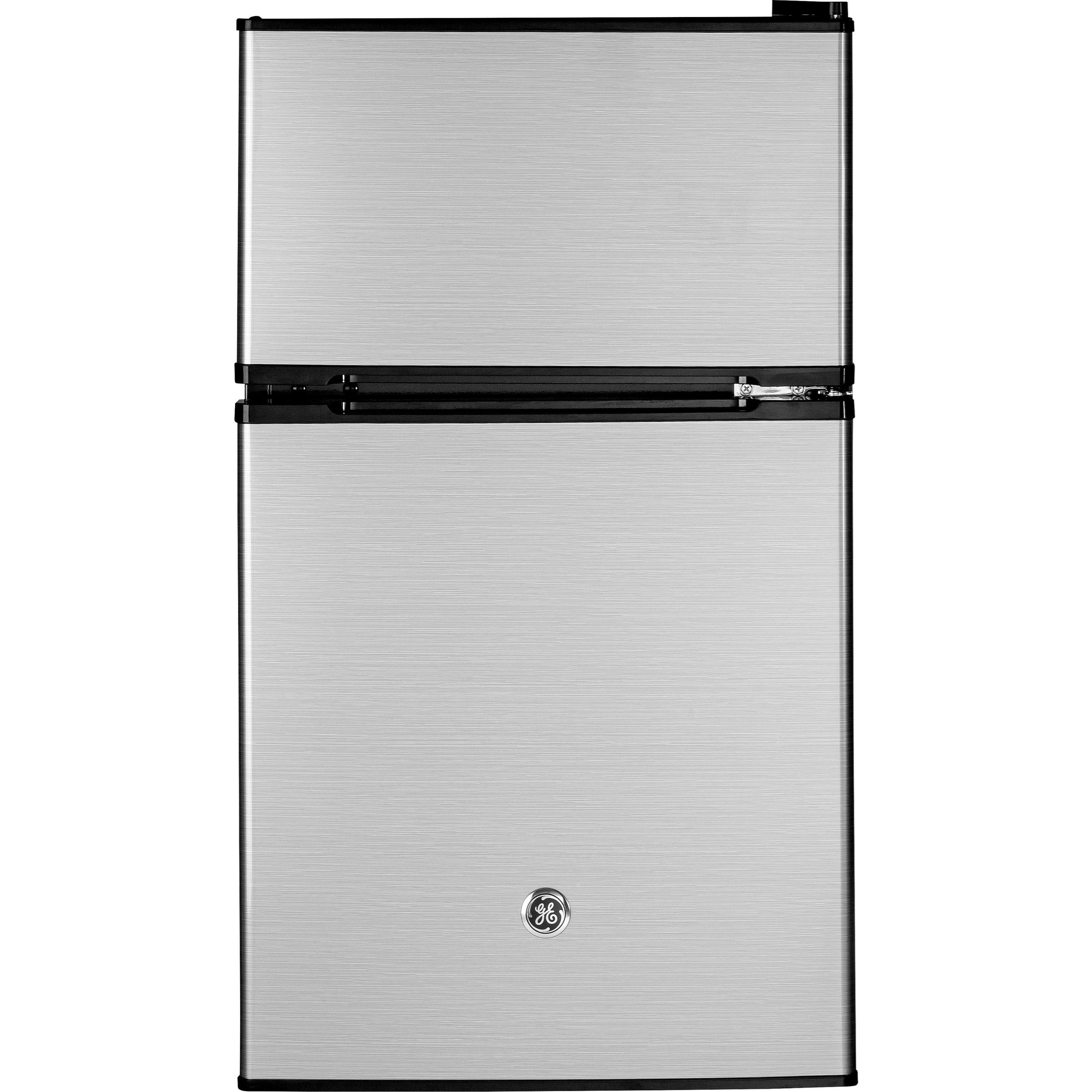 Compact Refrigerators - GE GE® Double-Door Compact Refrigerator by GE Appliances at Furniture and ApplianceMart