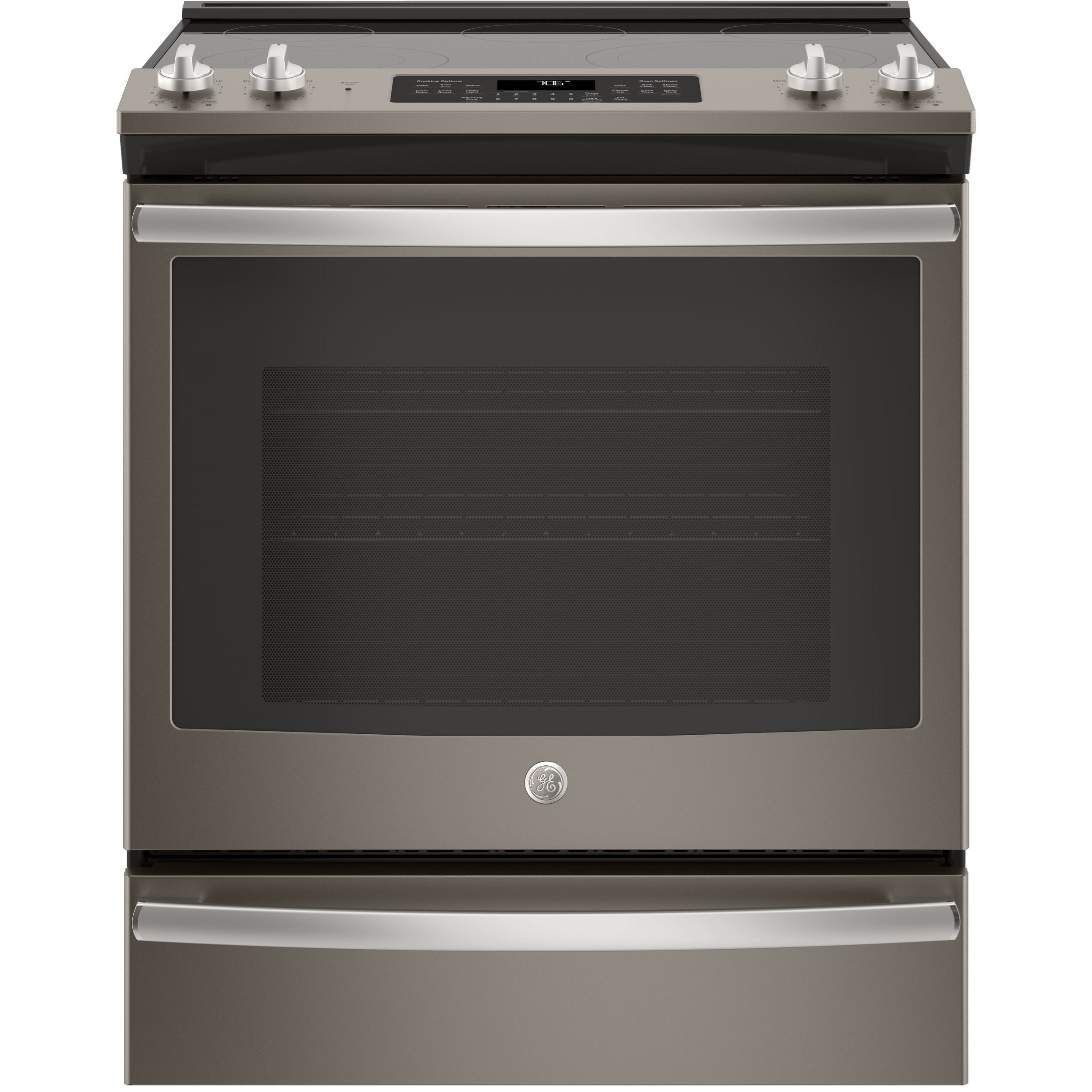 """GE Electric Ranges 5.3 Cu. Ft. 30"""" Slide-In Electric Range by GE Appliances at Fisher Home Furnishings"""